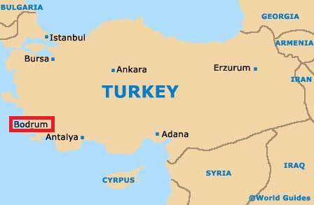bodrum turcia harta BODRUM – plaje, lux si viata de noapte! bodrum turcia harta