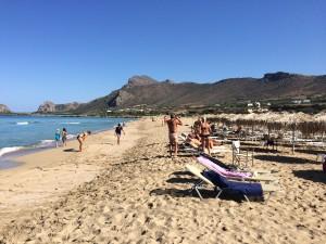 Plaja cu Nisip Falassarna insula Creta